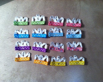 Tiara/crown hair clips