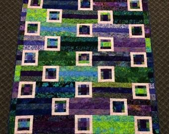 """Batik Quilt, 48"""" x 57"""""""