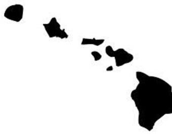 Hawaiian Islands decal. 808 state.