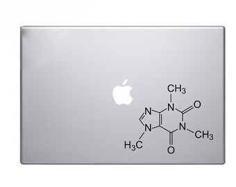 Caffiene Molecule Decal for Macbook, Pro, Air, 11,13,15,17.
