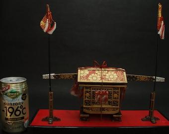 "Vintage Miniature of ""Kago"" Japanese Shogun / Samurai Transportation Basket"