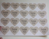 Thank You Tag. Heart design Sticker Labels Seals. 3.8cm diameter. Lovely Gift stickers! 10 pages