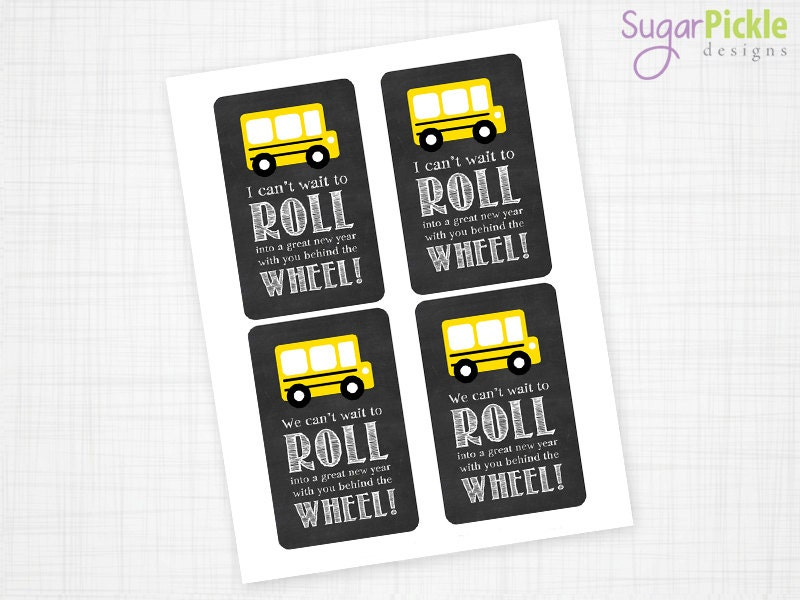 Bus Driver Appreciation Gift Tag Bus Driver Gift Tag Thank