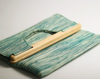CLEARANCE SALE!  Christa Convertible Clutch - Raffia Clutch & Tote Available in Teal