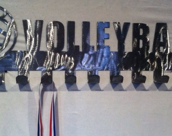 Volleyball Medal Display hooks, Medal holder