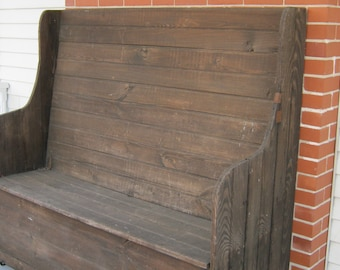 How To Use Woodworking Machines Outdoor Wood Hand · SaveEnlarge · High Back Benchhigh Back Dining Bench ... & High Back Storage Bench - Listitdallas