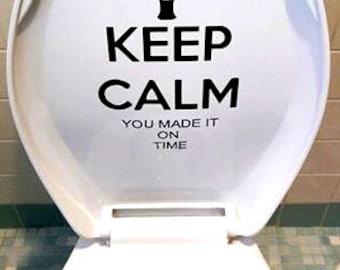 Keep calm toilet decal funny bathroom decor funny Custom ...