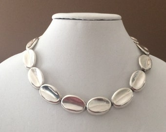 """Sterling Silver Chunky Necklace 18"""""""