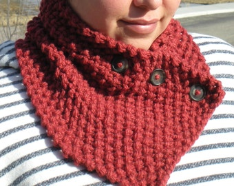 Buttoned Variable Cowl