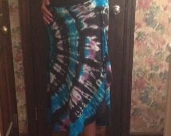 Tie-dye womens MEDIUM lotus skirt