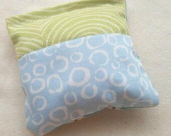 Organic Cotton Catnip Pillow - GOTS certified Organic Cotton -   house and green swirl