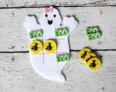 Halloween Ghost Girl Tic Tac Toe ITH Embroidery Design