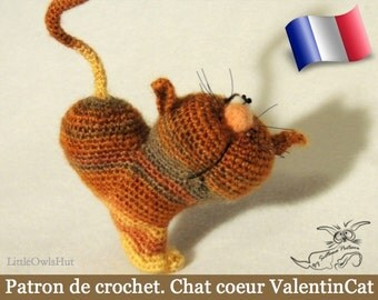 028e cat heart! Amigurumi crochet pattern. PDF file. By Pertseva Etsy