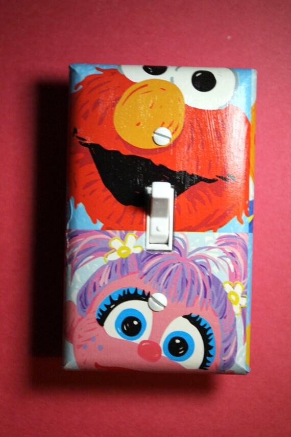 Elmo Bedroom Decorating Ideas: Sesame Street Elmo And Abby Cadabby Light Switch By