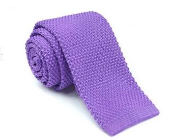 Light Purple Knitted Ties.Mens Neckties.Wedding Neckties.Groomsmen Ties.Man Knitted Ties.