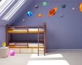 Full Colour Solar System Wall Decal Planets Kids Wall Sticker Bedroom Educational School Science