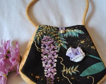 Handmade Embroidered and Beaded Purse #13