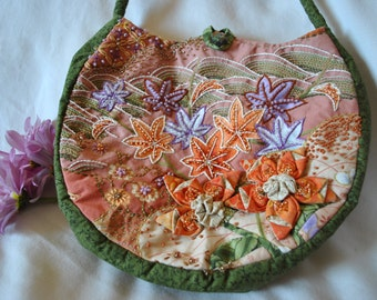 Handmade Embroidered and Beaded Handbag #7
