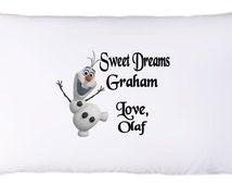 Personalized/Custom Frozen Olaf Pillowcase