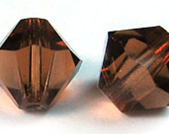 Swarovski 4mm Bicone - Smoked Topaz - Pack 20