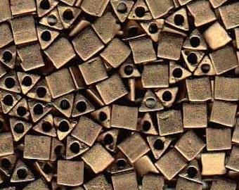 Sharp Triangles - Size 8 Matte Metallic Bronze - 10 gms