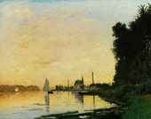 Monet Claude - Argenteuil, Late Afternoon