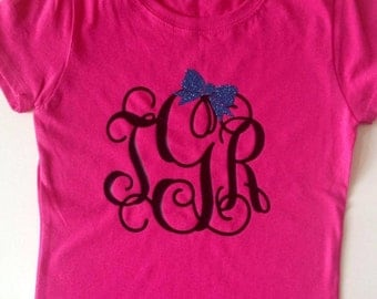 Youth Girls Short Sleeve Custom Monogrammed Shirt