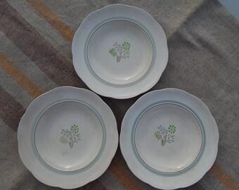 Gefle Vintage Soup Bowl Set of 3, Scandinavian Tableware Vintage Gefle Bowl