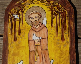 Retablo of Saint Francis of Assisi ***SOLD***