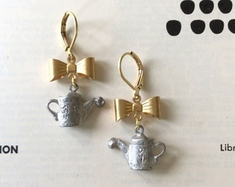 Watering Can & Bow Earrings