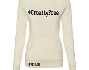 Beagle Freedom FTLA Apparel  - #CrueltyFree - Eco Wheat Off The Shoulder Eco-Fleece Sweatshirt