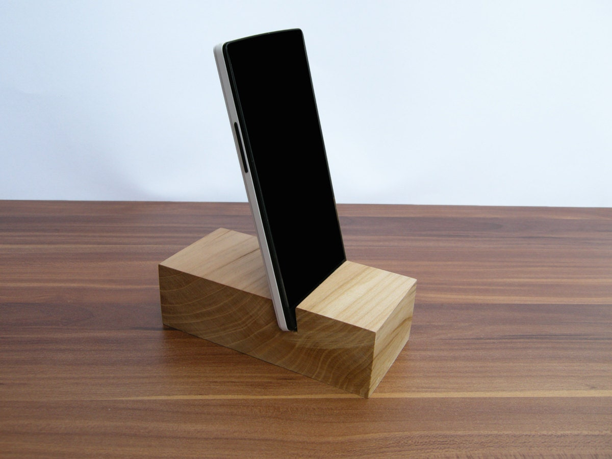 Iphone wood stand by
