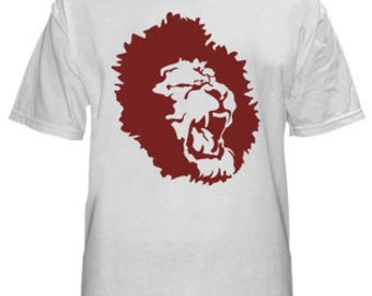 Distributed Lion Logo shirt for men, White T-shirt, Logo shirt, Round neck, Short sleeves, Cotton shirt, Menz shirt