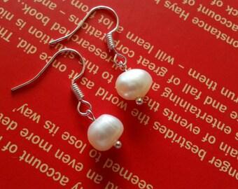 Small Faux Pearl Earrings