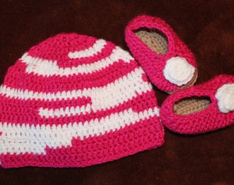 9-12 month Slipper and Hat Set