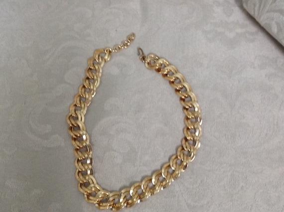 monet gold collar chain monet jewelry monet necklace gold
