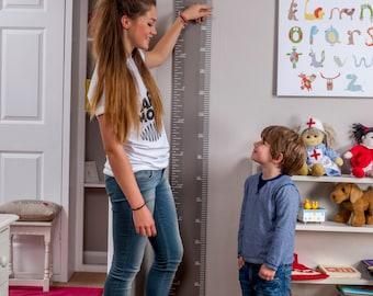 Wooden Ruler Height Chart - F&B Charleston Grey