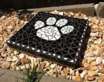 Dog mosaic paw