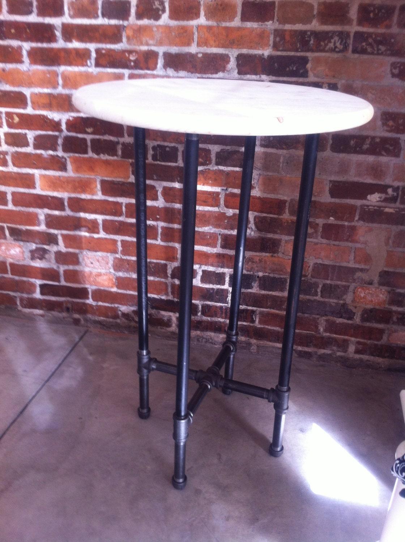 round black pipe table by williamrobertvintage on etsy. Black Bedroom Furniture Sets. Home Design Ideas