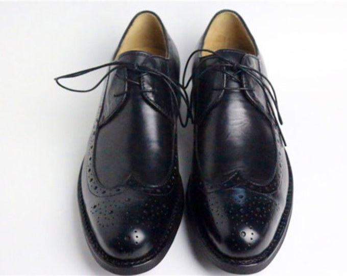 Handmade Goodyear Welted Brogue Carving Men's Shoes,Classic Pattern