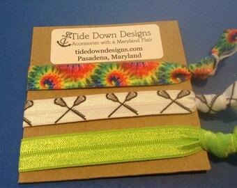 Lacrosse Chick Tie Dye and Lacrosse hair ties