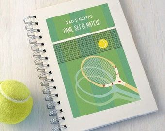 Personalised Tennis Notebook