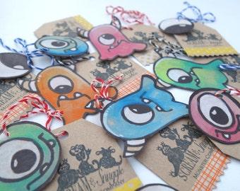 Monster Gift Tag-Handmade-Free Shipping