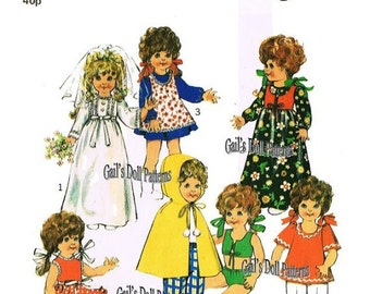"Vintage Hard to Find Wardrobe Pattern for 16"" Dolls"