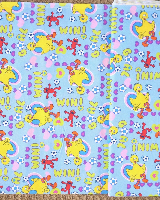 Sesame street elmo big bird baby kids nursery cotton fabric for Kids cotton fabric
