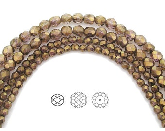 6mm (68pcs) Crystal Senegal Luster coated, Czech Fire Polished Round Faceted Glass Beads, 16 inch strand