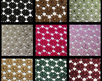 37 Inches Wide --9 Color Selections Daisy Design Pattern Guipure Venice Lace Fabric All-Over Design Supplies Sewing Notions UB308