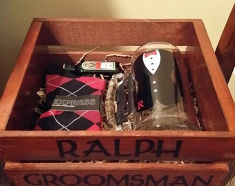Groomsmen Thank You Crate