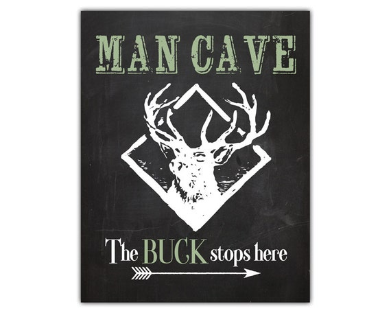 Printable Man Cave Signs : Deer art print man cave sign decor gift for