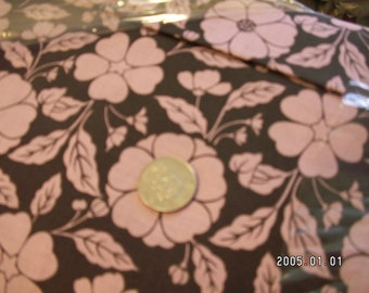 pink and brown floral fabric